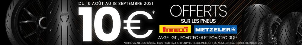 Offres pneumatiques MAXXESS - 10€ offerts - Pirelli & Metzeler